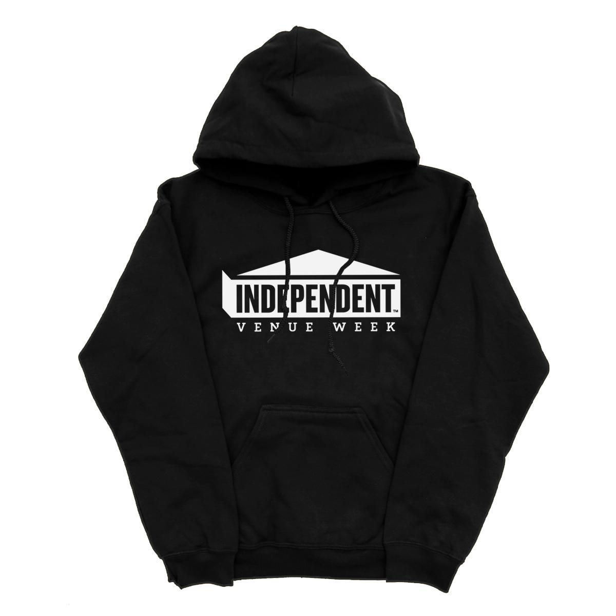 IVW Logo Hoodie (Black w/ White)