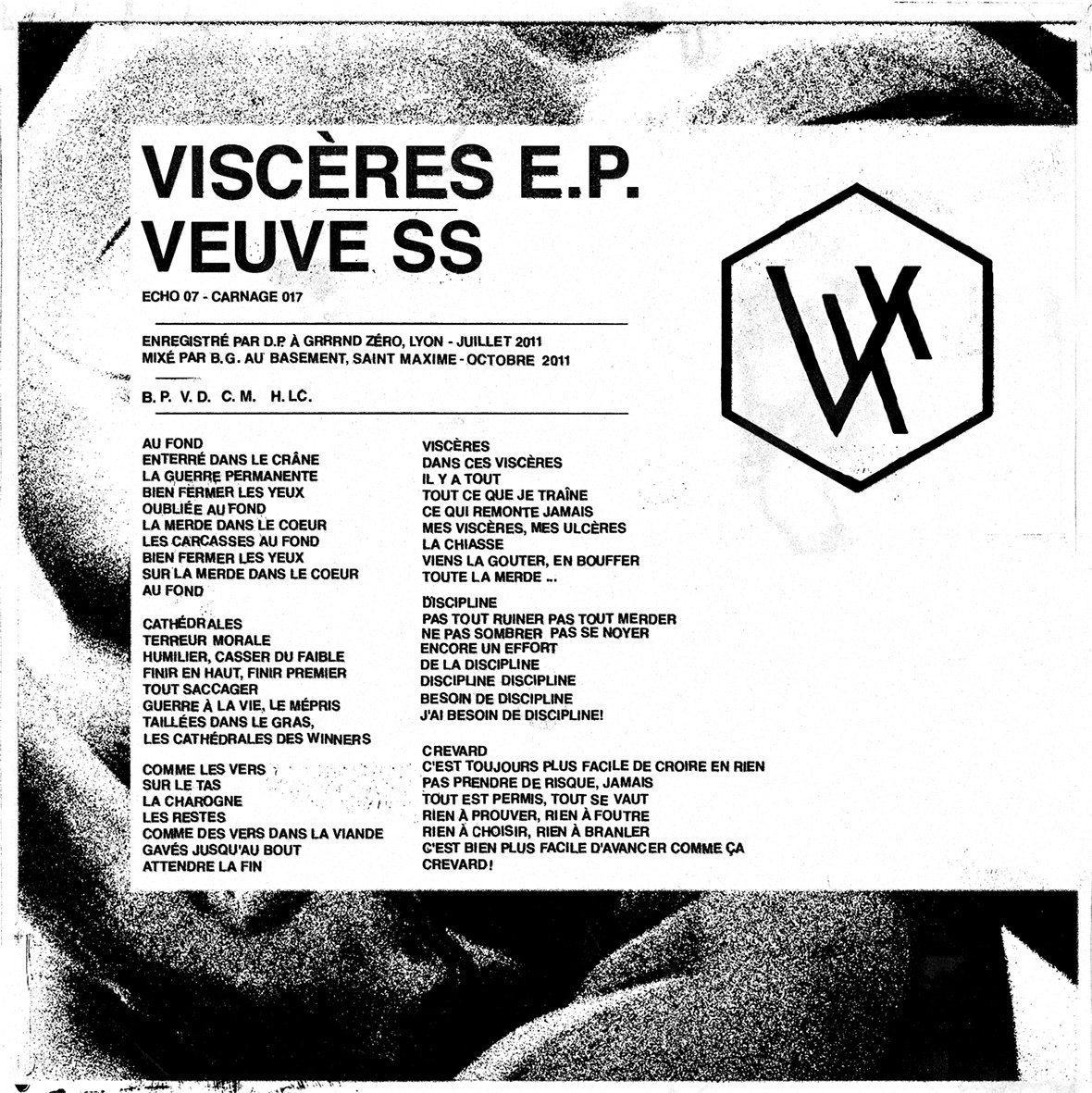 VEUVE S. S. - Viscère EP