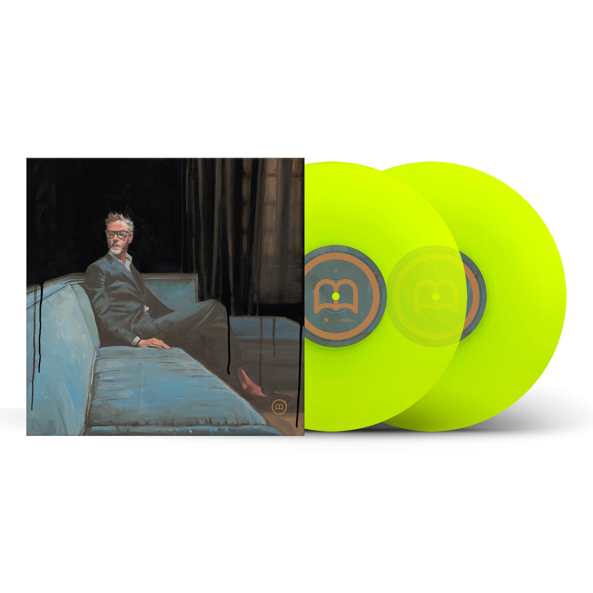 Translucent Chartreuse Deluxe 2xLP + Turntable Mat (Optional)