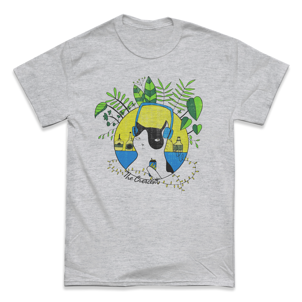 'Cool Cat' T-Shirt (Sports Grey)