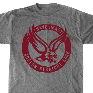 Have Heart 'Boston Straight Edge Eagle' Deep Heather Gray T-Shirt