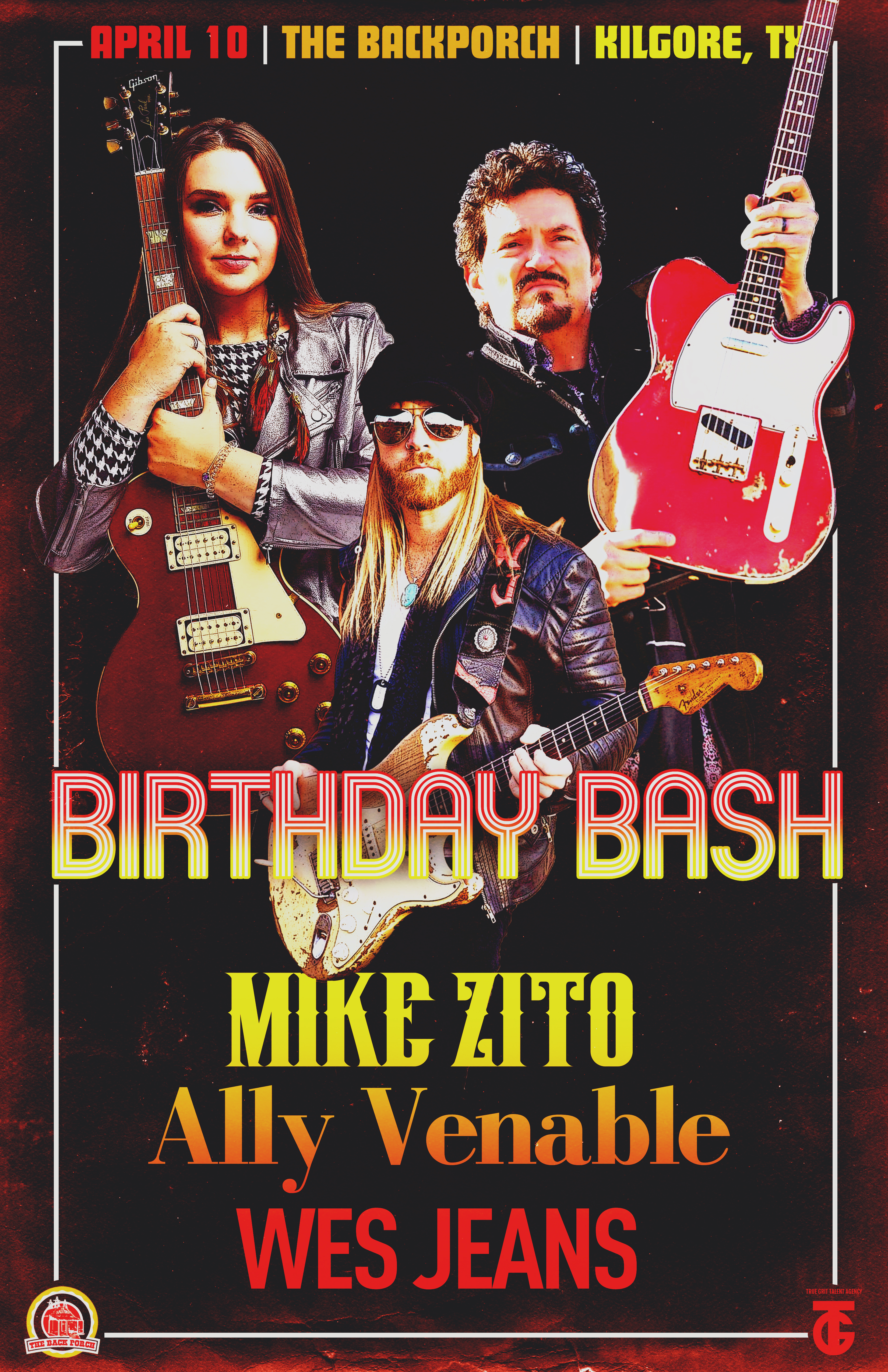 Mike Zito, Ally Venable, & Special Guest: Wes Jeans - Backporch Birthday Bash Show