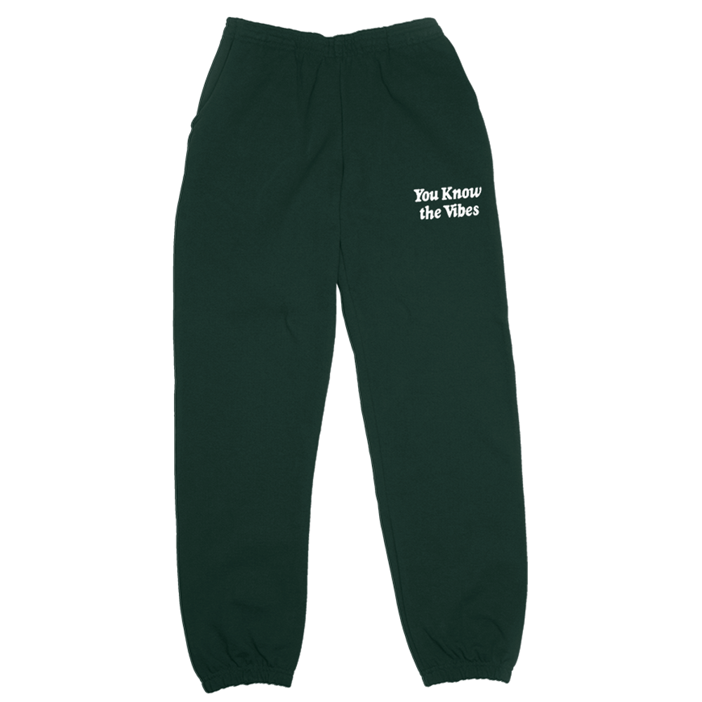 You Know The Vibes Sweats - Green