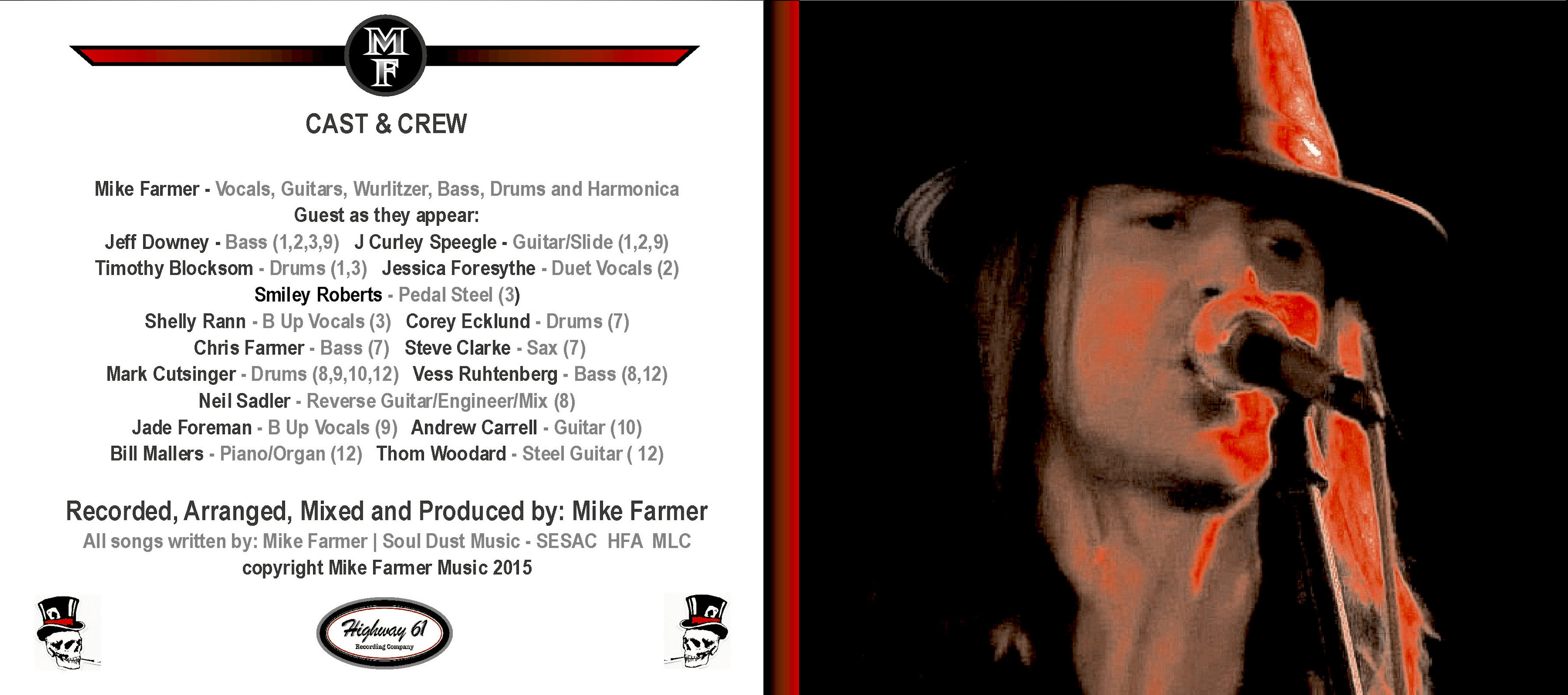 Mike Farmer - High Water - Limited Edition Digipack CD + Downloads