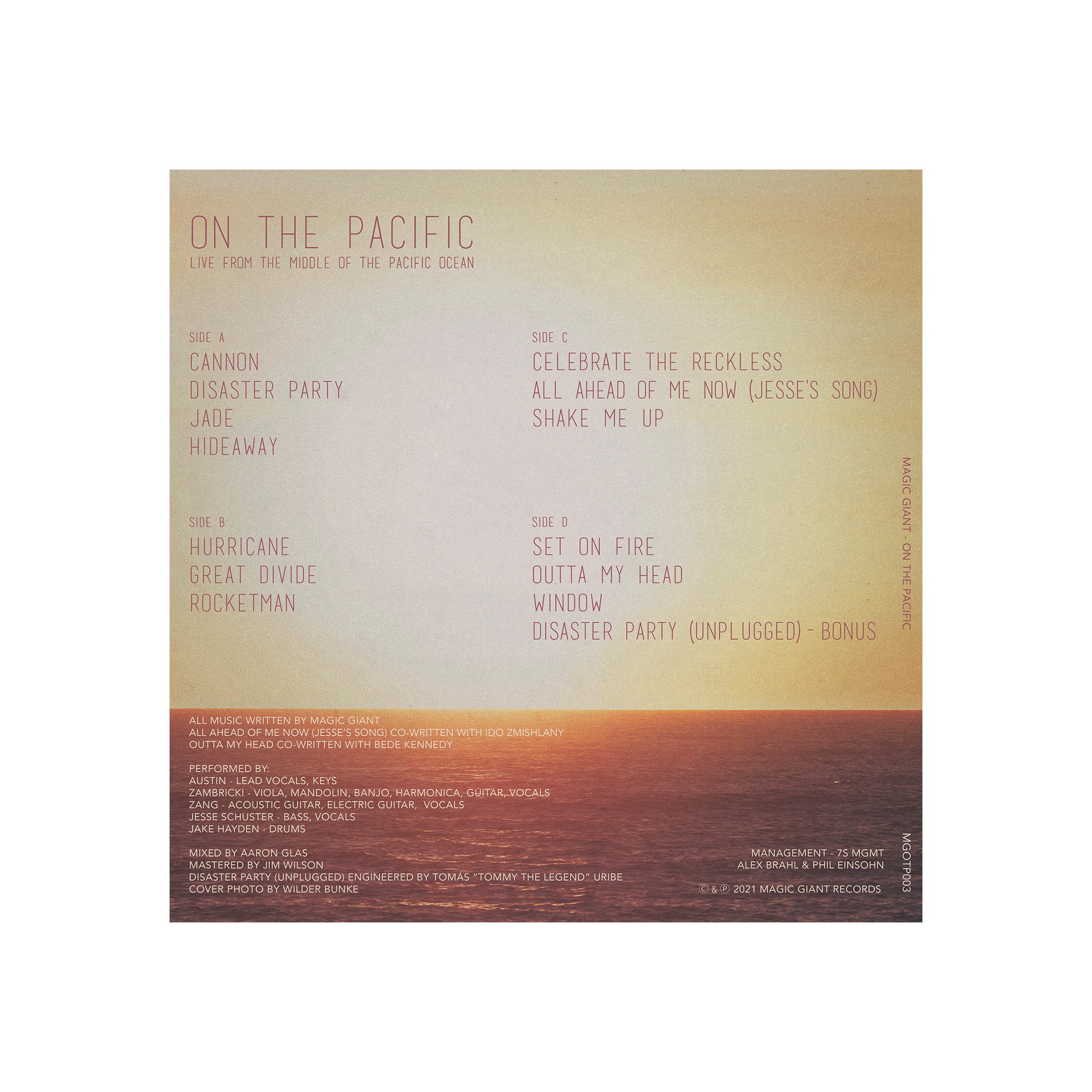 On the Pacific (Live) - Vinyl & Digital