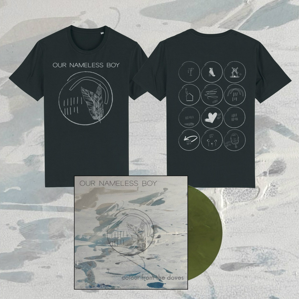 Our Nameless Boy - Colour From The Doves Shirt + LP