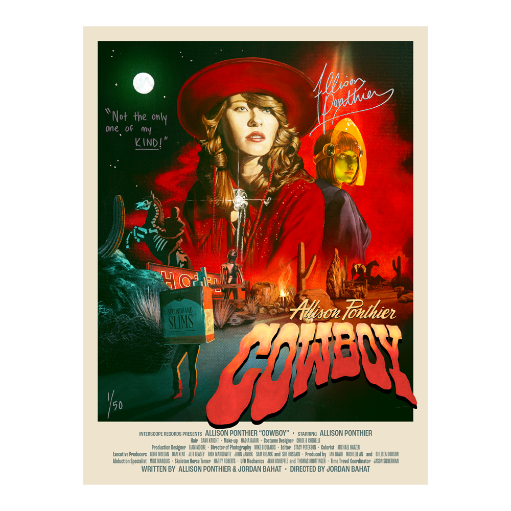 Limited Edition Signed Cowboy Poster