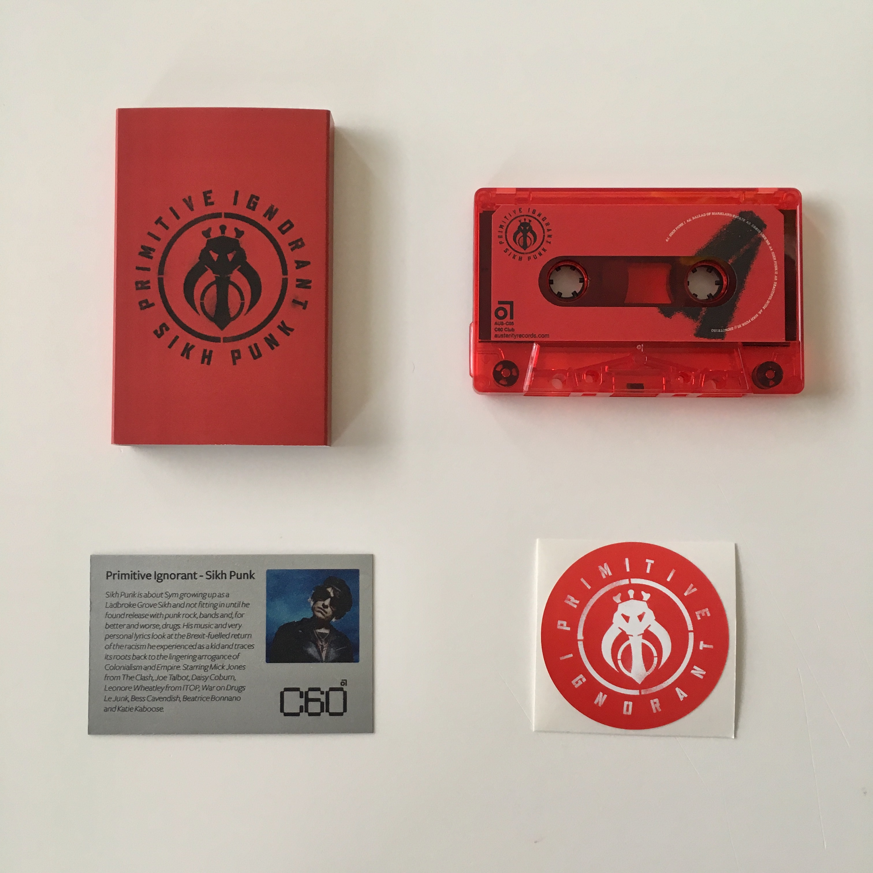Primitive Ignorant - Sikh Punk (Very limited trans red cassette)