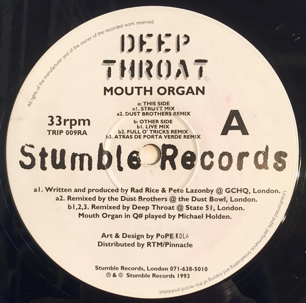 Deep Throat – Mouth Organ (Stumble Records)