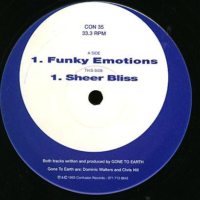 Gone To Earth – Funky Emotions / Sheer Bliss (Confusion Records)