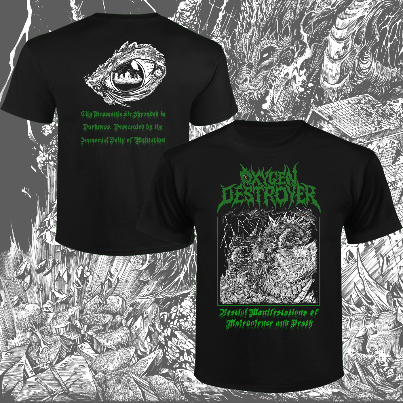 OXYGEN DESTROYER - Bestial Manifestations of Malevolence and Death T-Shirt