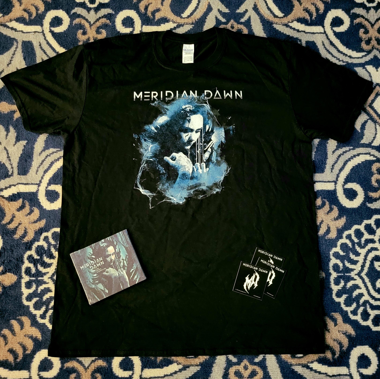 Shirt, CD, and Sticker Bundle