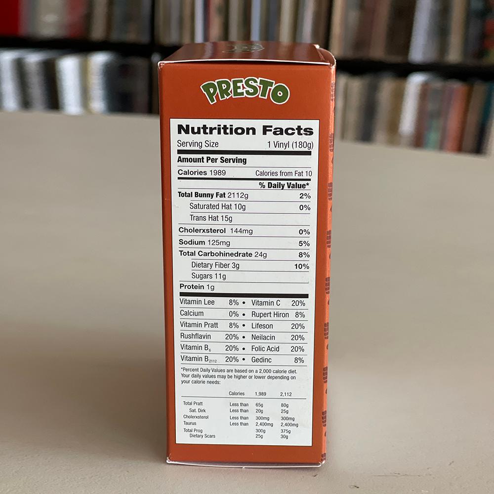 Rush Presto decorative Cereal Box