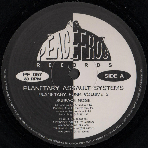 Planetary Assault Systems – Planetary Funk Volume 5 (Peacefrog Records)