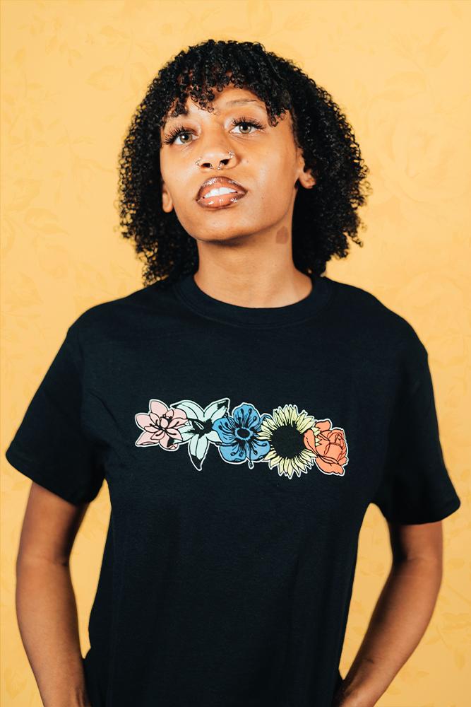 Flower Tee - Black