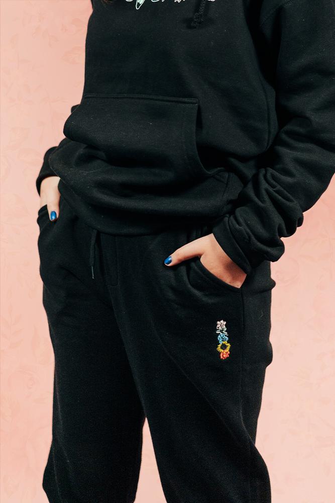 Flower Sweats - Black