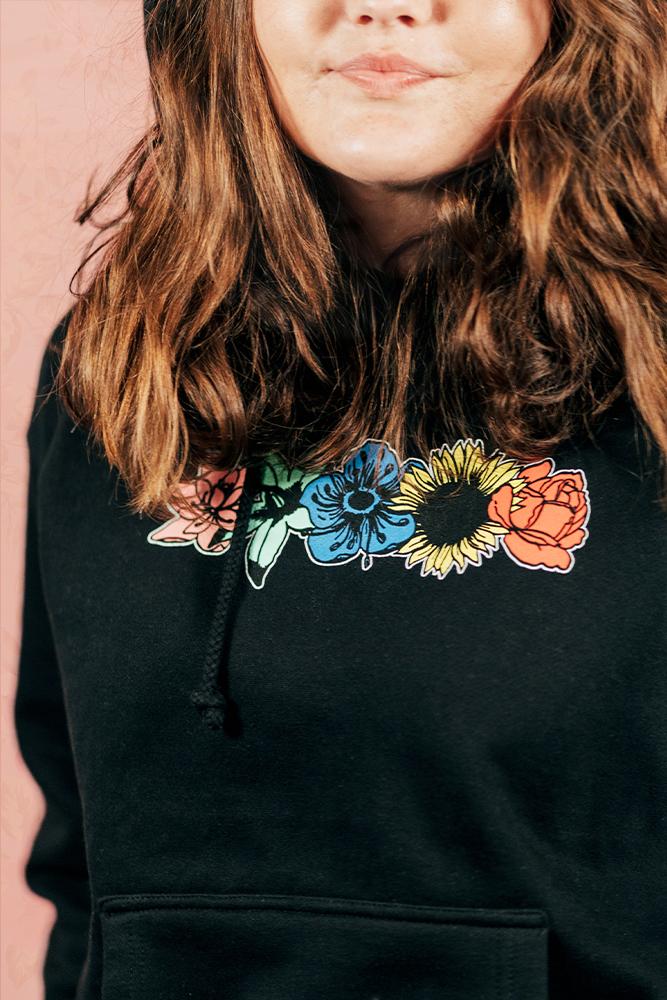 Flower Hoodie - Black