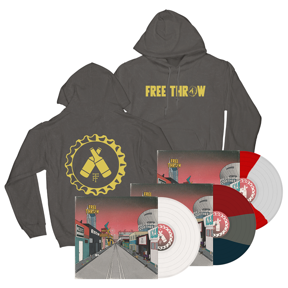 Free Throw Logo Hoodie + Piece It Together Vinyl Bundle