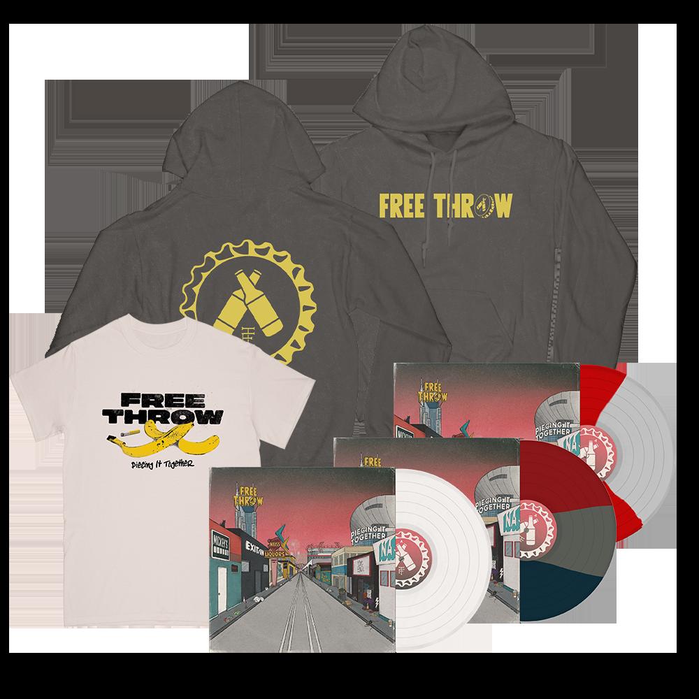 banana tee + logo hoodie + vinyl bundle