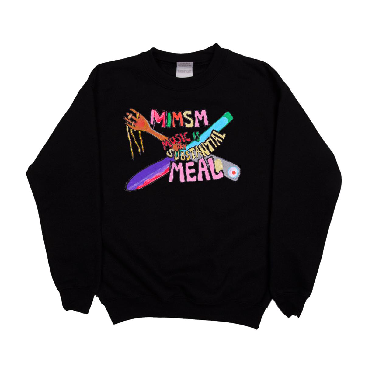 'Music Is My Substantial Meal' Sweatshirt (Black)