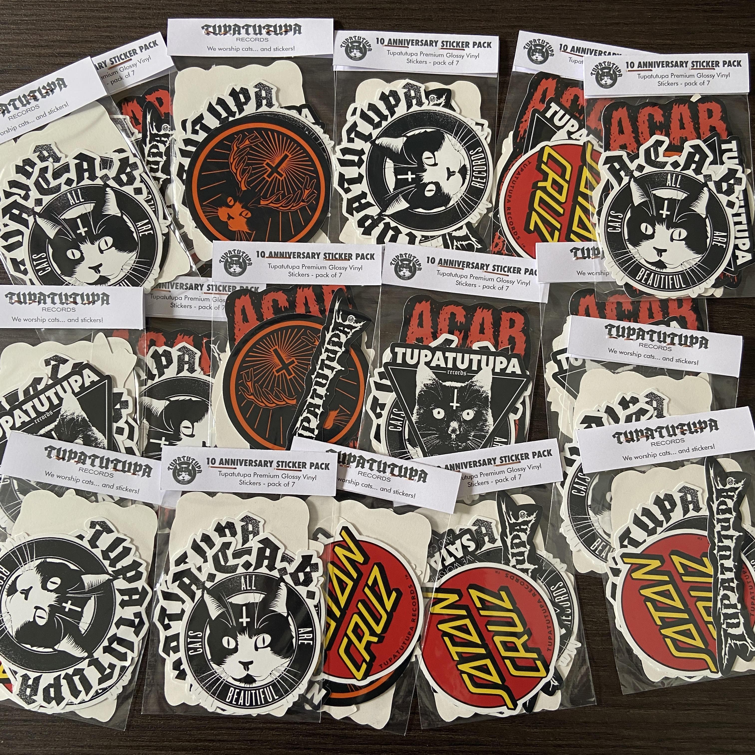 Pack Pegatinas Tupatutupa Records