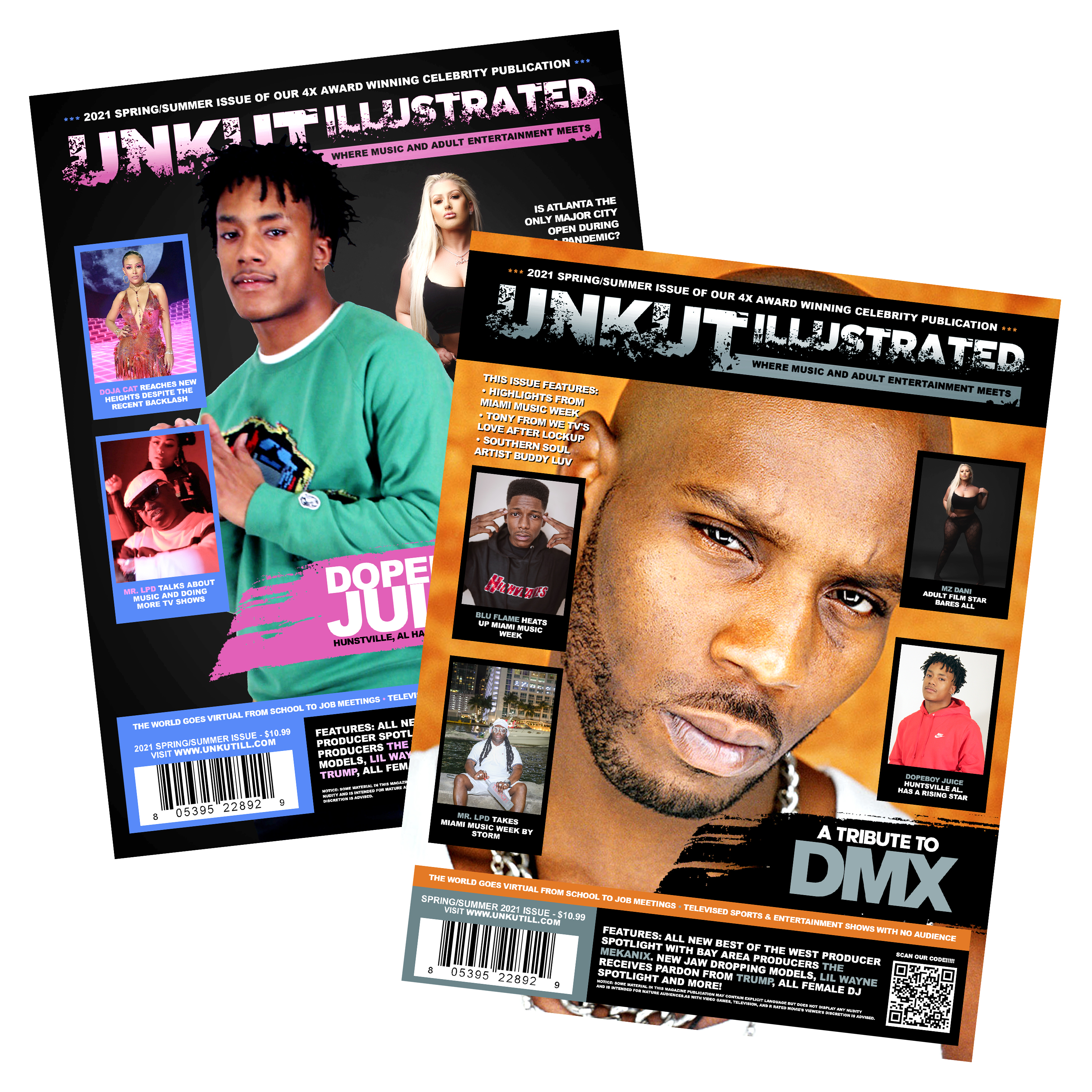Unkut Illustrated - Spring/Summer 2021 Edition (DMX Tribute / Dopeboy Juice Cover)