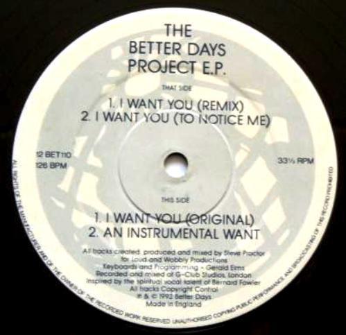 The Better Days Project – The Better Days Project E.P. (Better Days)