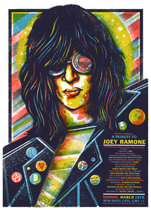 Joey Ramone Tribute Screen Print