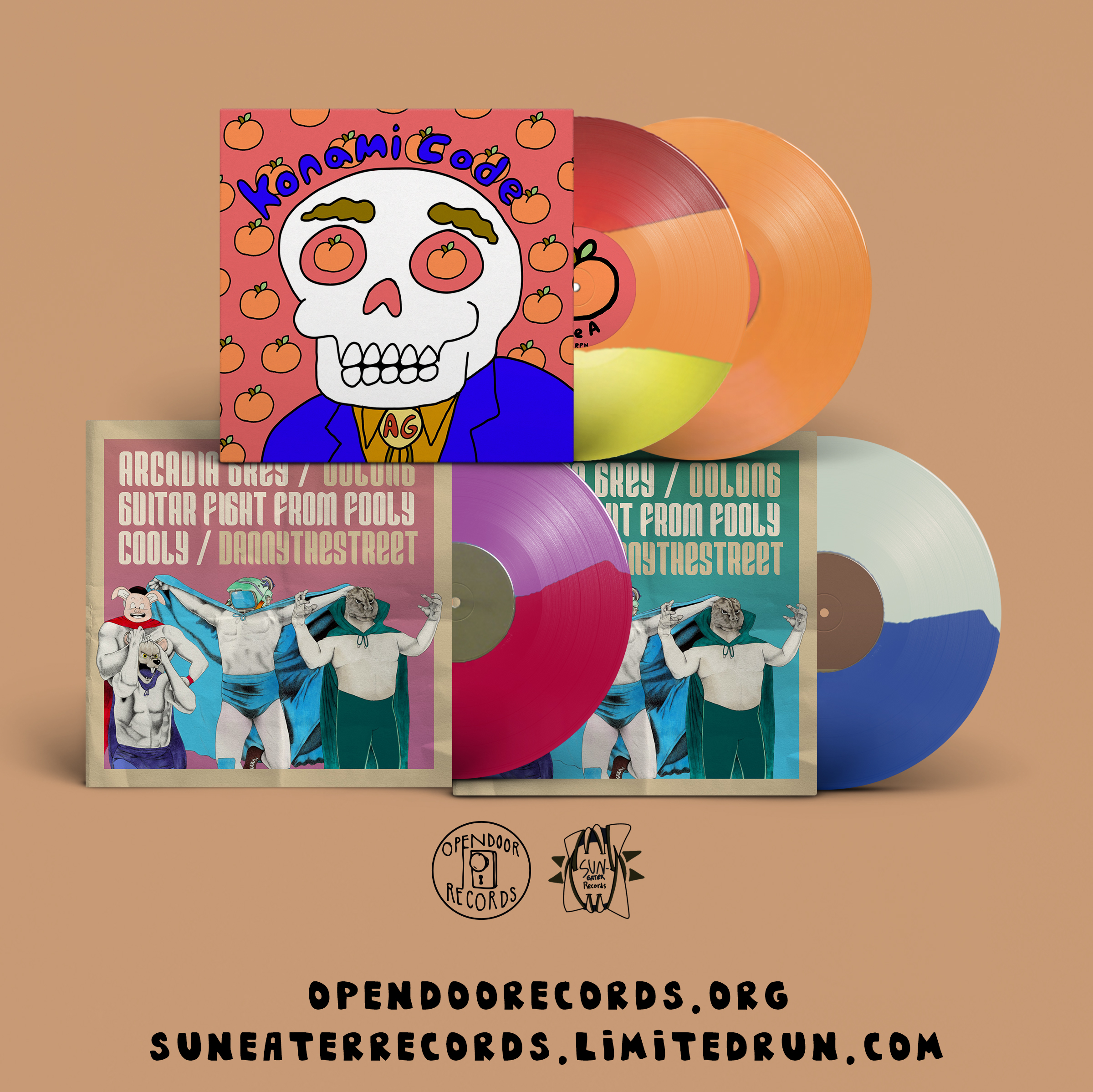 Konami Code Vinyl + Fatal 4 Way Split Vinyl