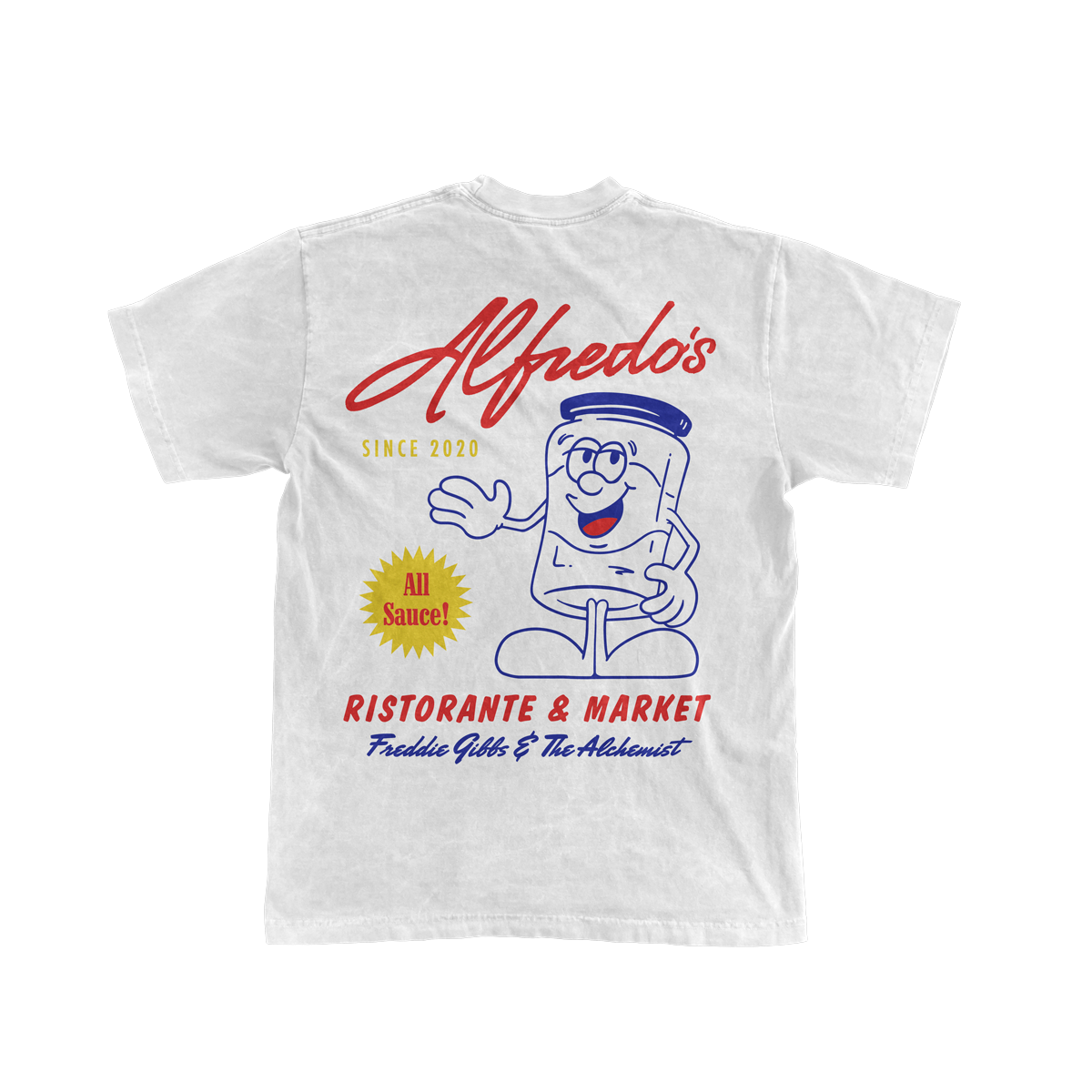 Alfredo's Mascot Tee - White