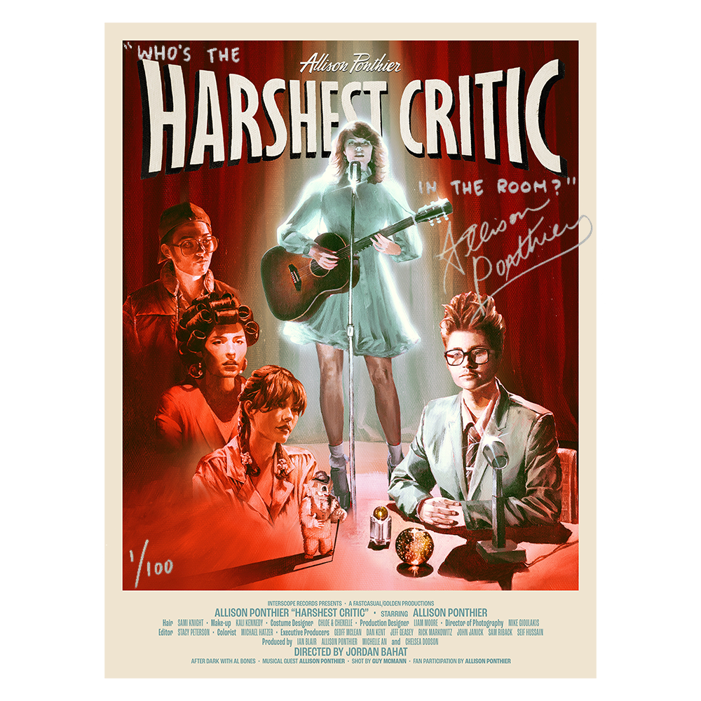 LIMITED EDITION SIGNED HARSHEST CRITIC POSTER