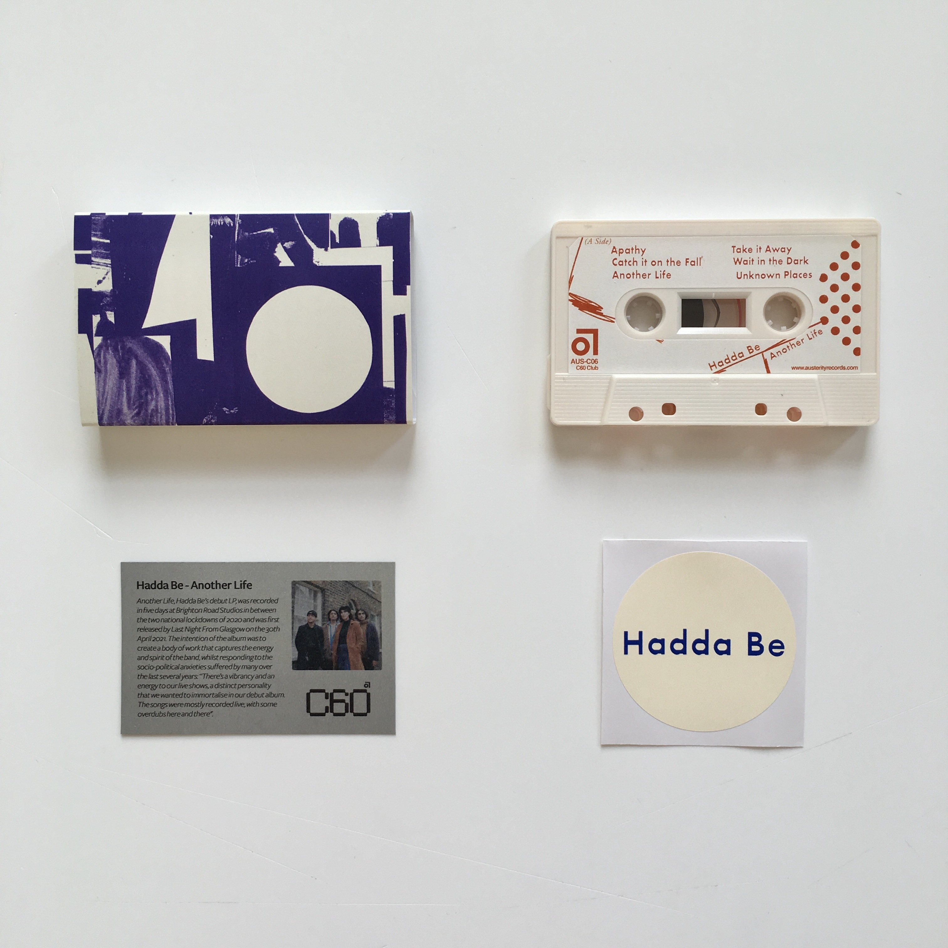 Hadda Be - Another Life (Very limited milky white cassette)