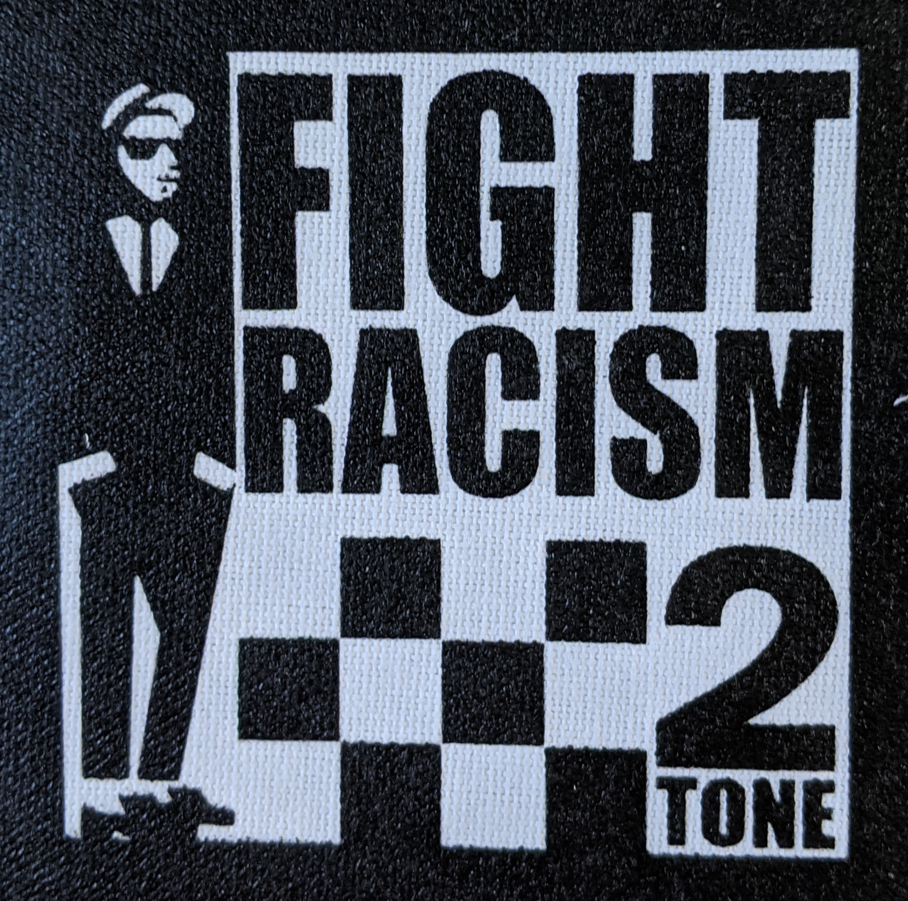 Fight Racism canvas patch