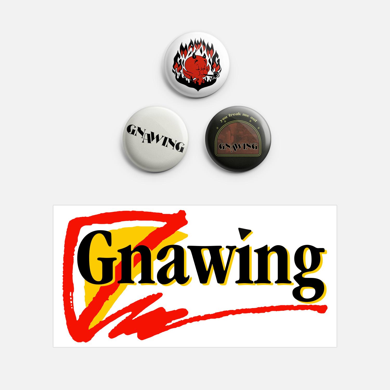 Gnawing - Pins & Doritos Sticker