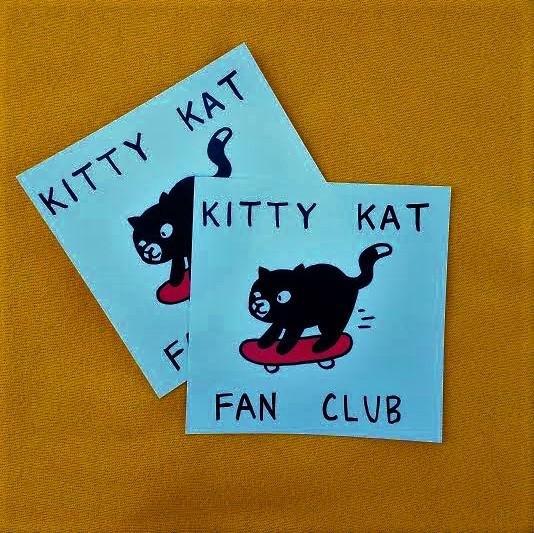 KITTY KAT FAN CLUB sticker