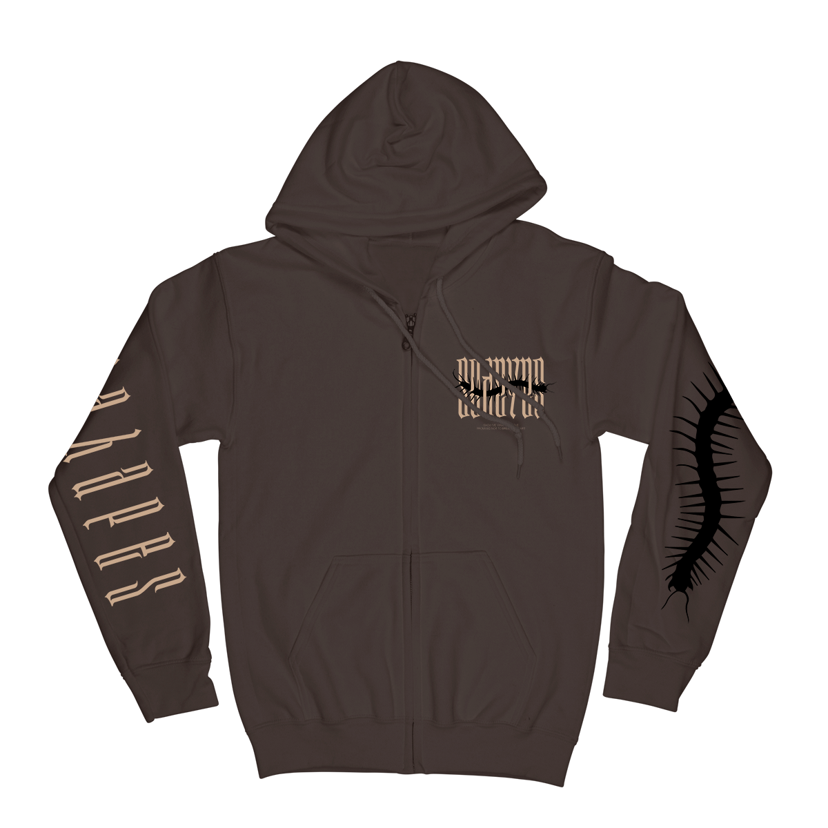 Insect Hoodie - Brown