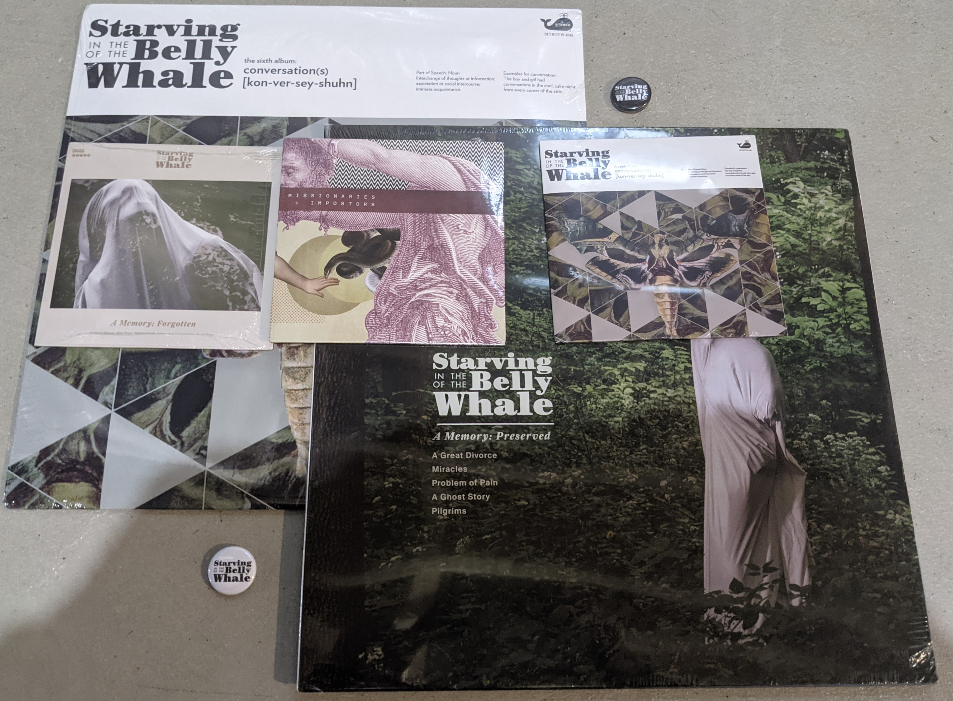 DISTRO - Starving in the Belly of the Whale 2 LP + 3 CD Bundle