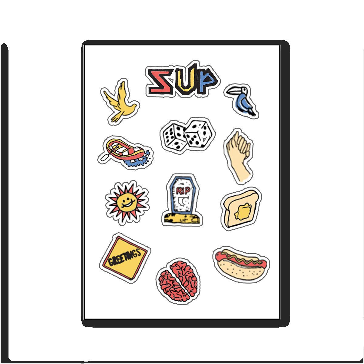 Super American -- SUP Sticker Sheet