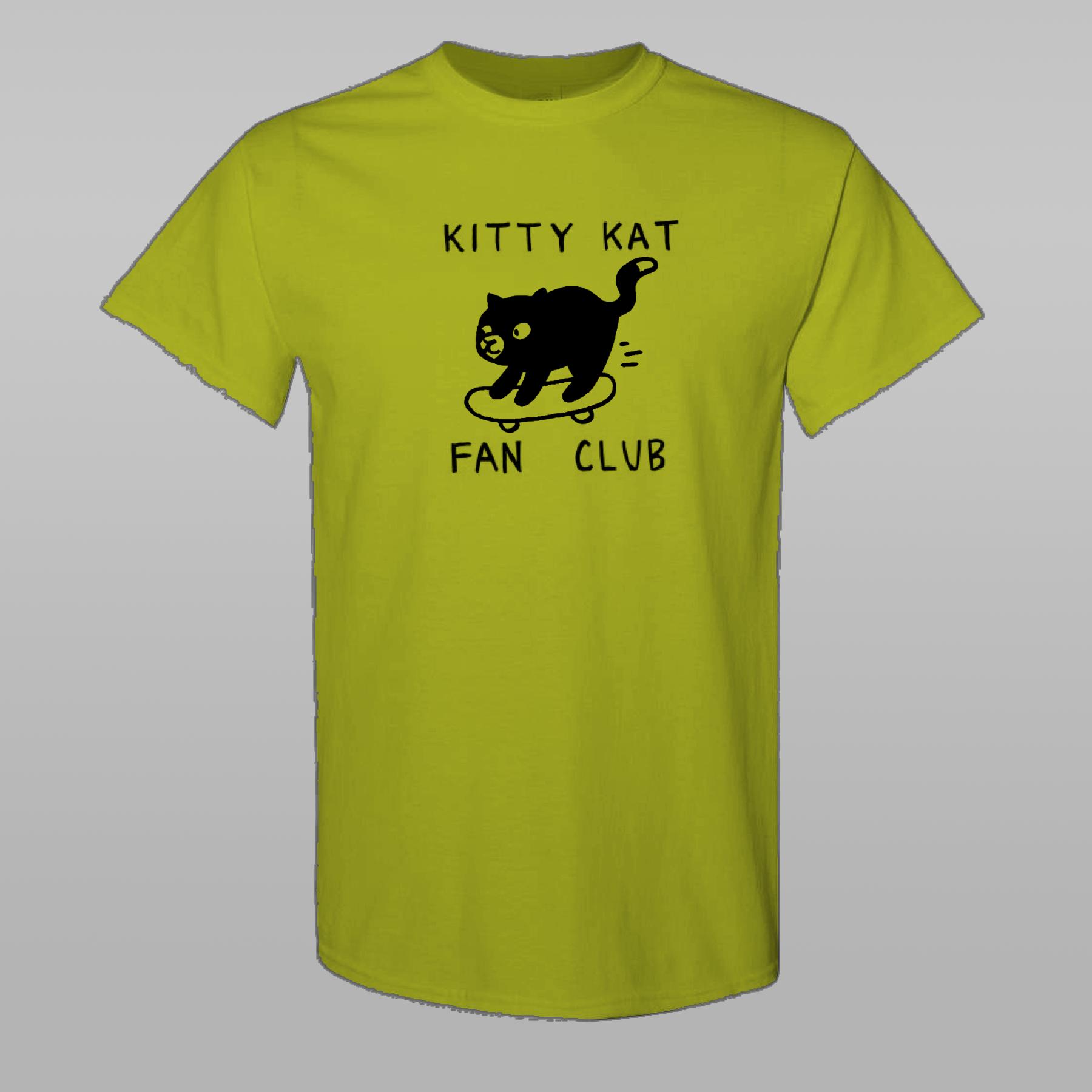 KITTY KAT FAN CLUB - Skateboard T-Shirt Yellow