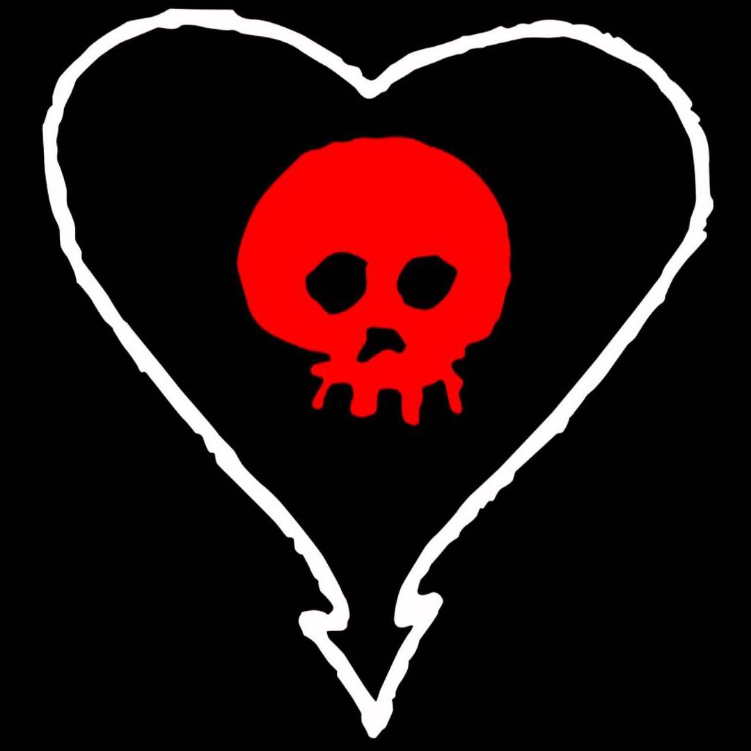 ALKALINE TRIO HEART SKULL Sticker