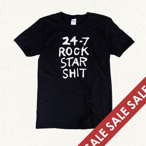 24/7 Rock Star Shit Black T-Shirt