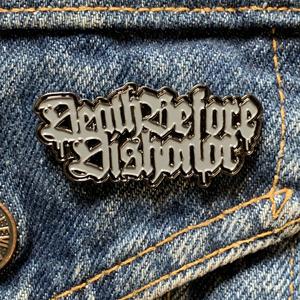 Death Before Dishonor 'Logo' Enamel Pin (Gray)
