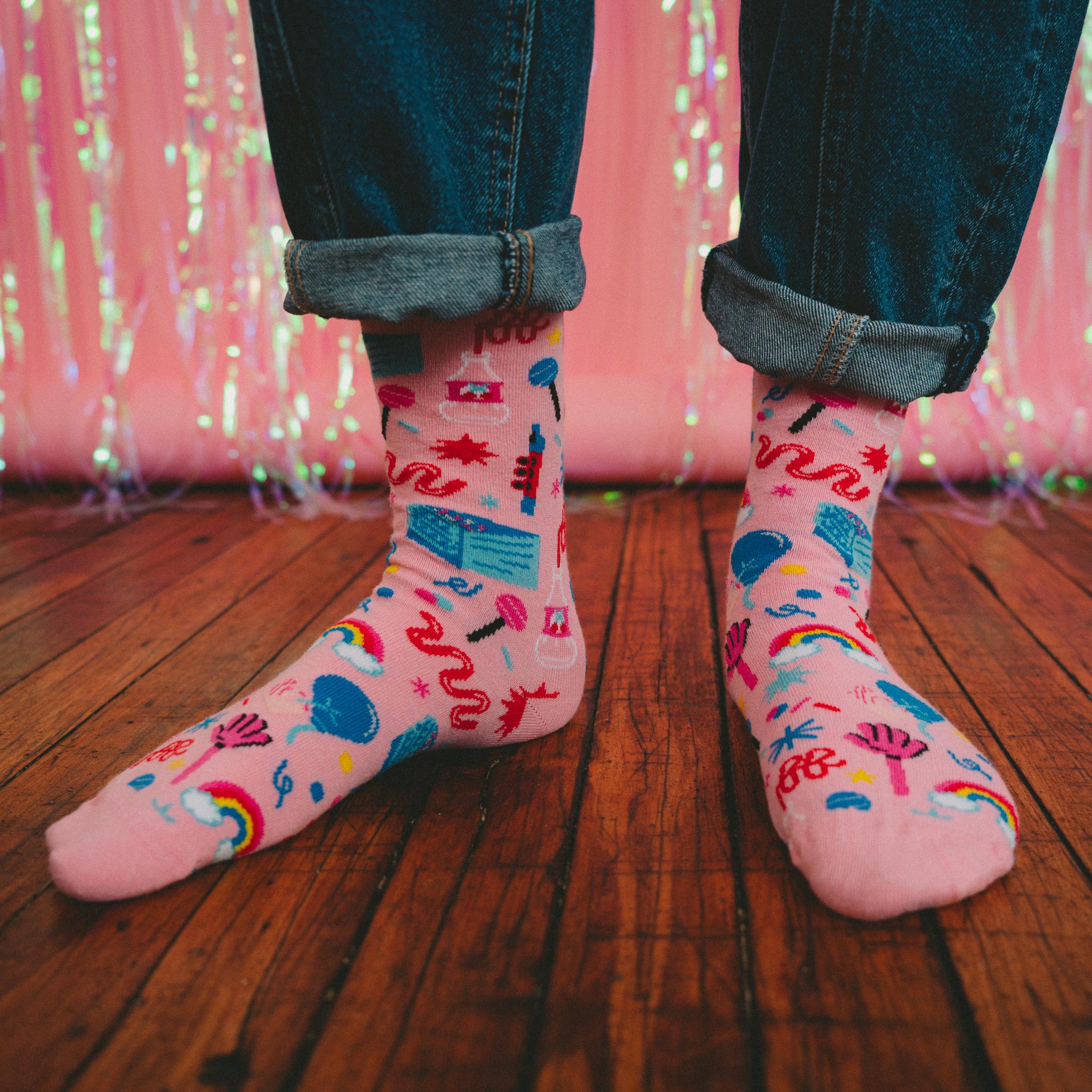 Paranoia Party Socks