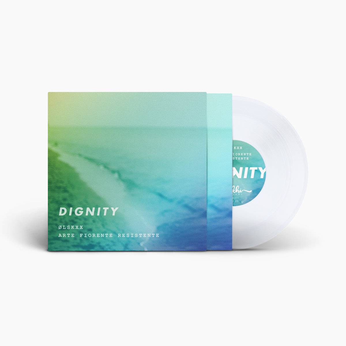 LIMITED EDITION VINYL (25 only) - ØLSKXX & AFR - Dignity / Virtue double-A-side 7 inches clear vinyl