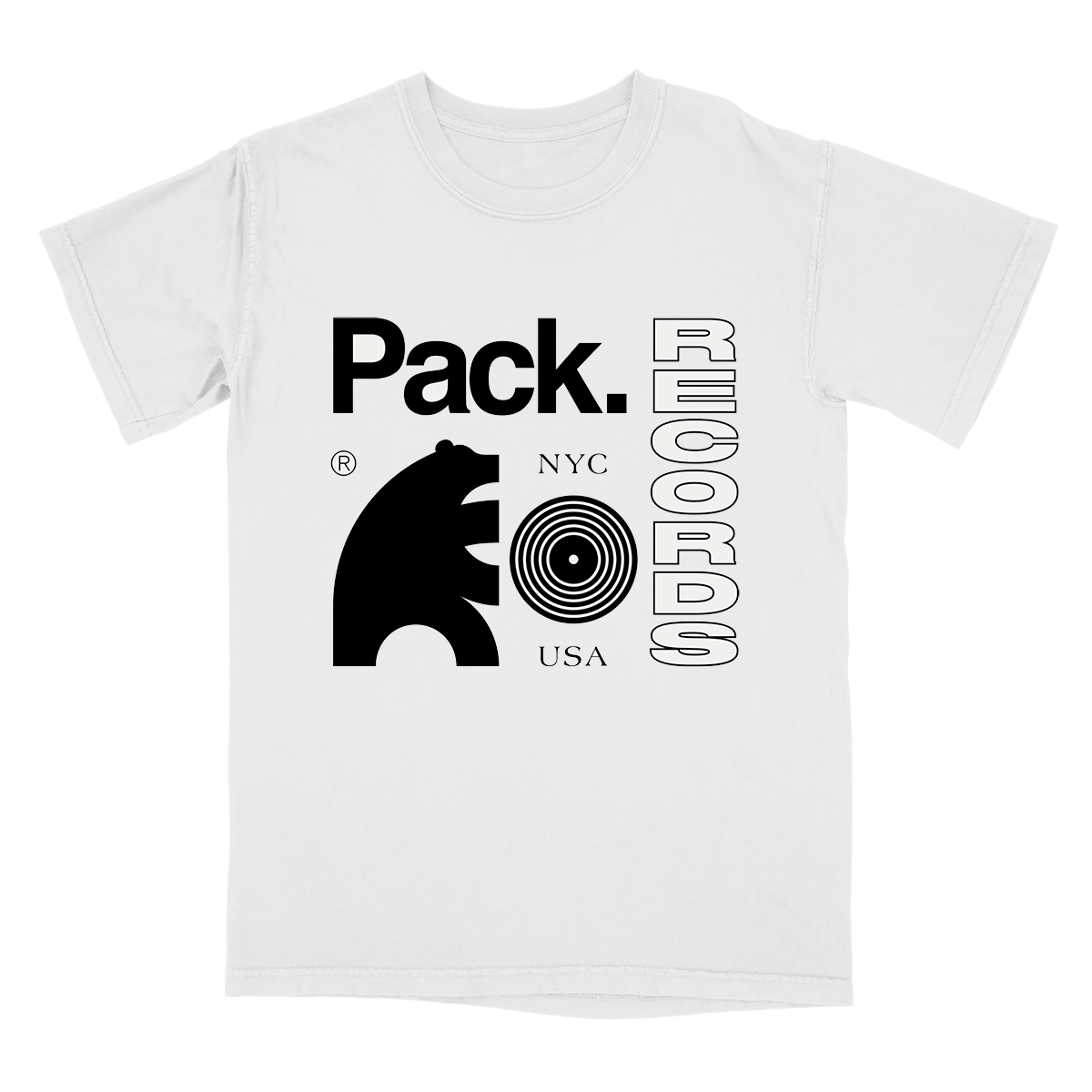 Pack Records Tee - White