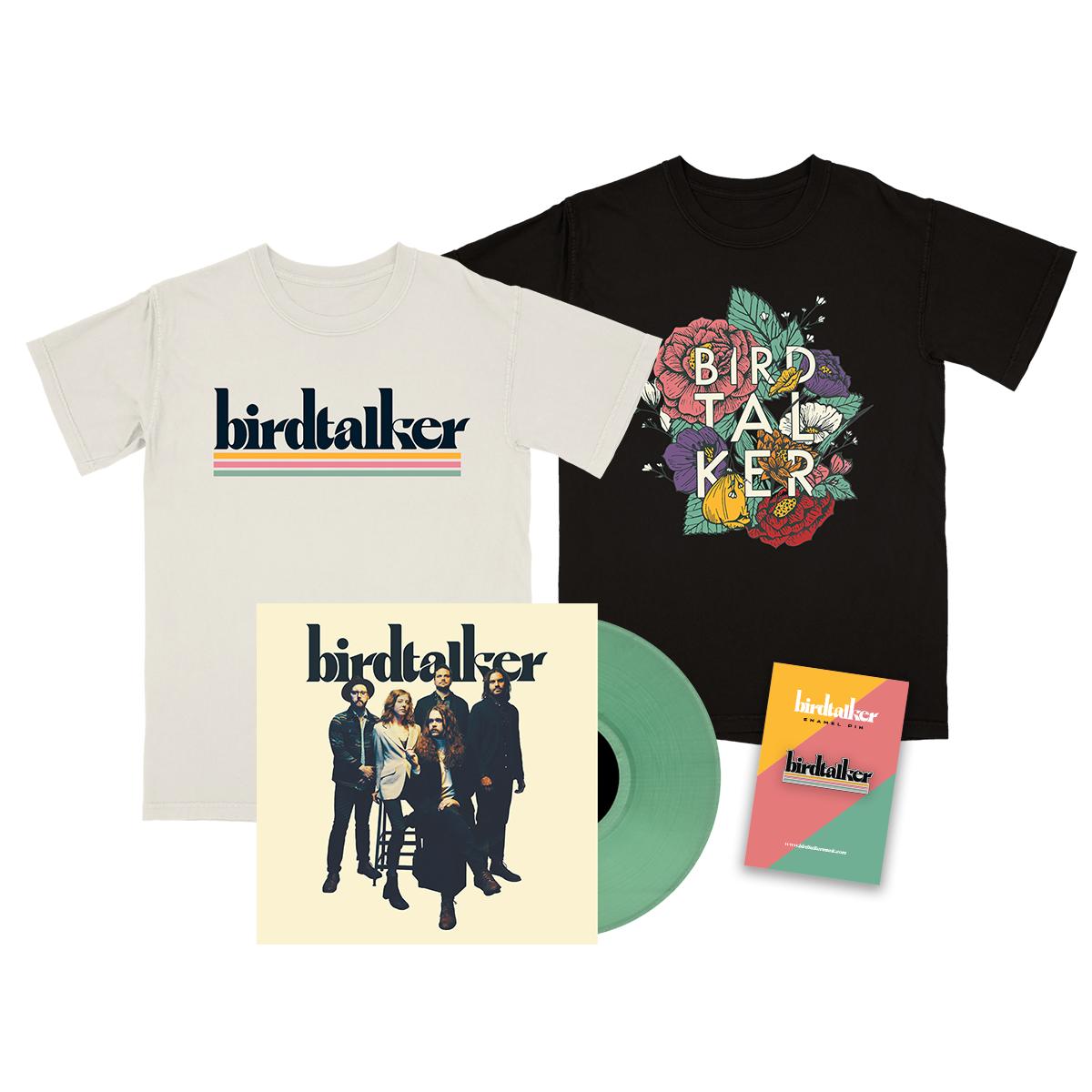 Birdtalker Vinyl, Tee & Pin Bundle