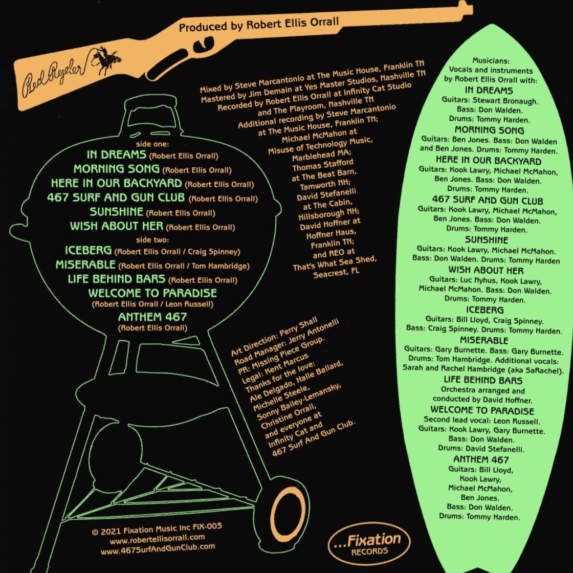 "Robert Ellis Orrall ""467 Surf And Gun Club"" CD and CASSETTE"
