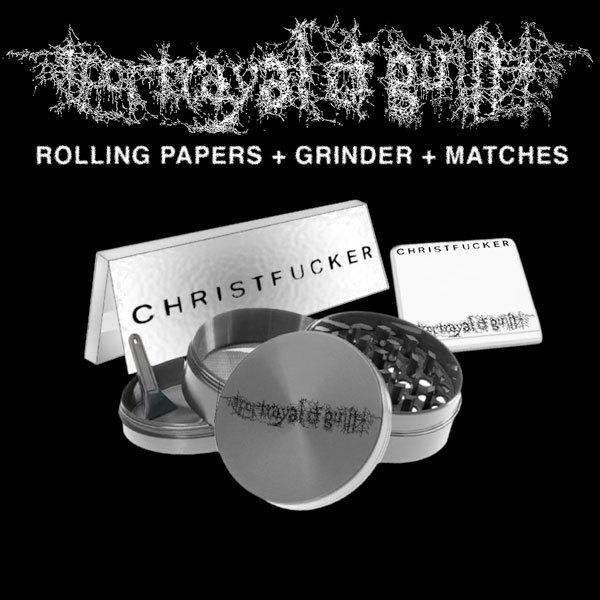 Portrayal of Guilt - Grinder + Rolling Papers + Matchbook Bundle