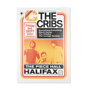 The Cribs @ Piece Hall Halifax Poster