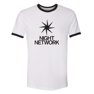 Night Network Ringer Tee
